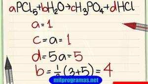Programas para balancear ecuaciones quimicas