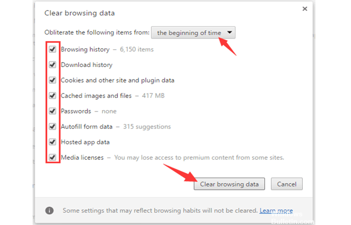 Eliminar datos de navegación