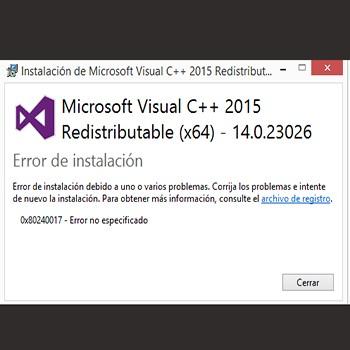 Soluciones Para Reparar El Error 0x80240017