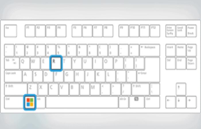 Combinación de teclas Windows + R