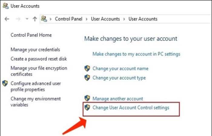 Control de cuentas de usuario