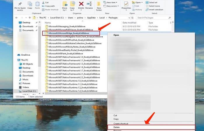 Reinstala Microsoft Edge