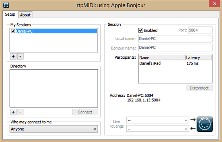 Cómo configurar iPad como controlador MIDI a través de Wi-Fi en una PC con Windows