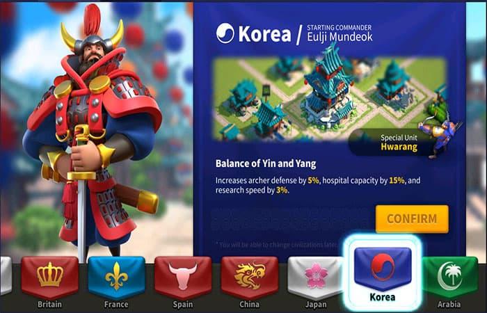 Civilización Arabica Coreana En Rise Of Kingdoms