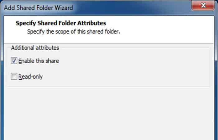 Habilitar este recurso compartido