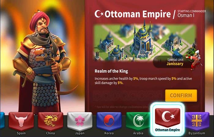 Civilización Del Imperio Otomano En Rise Of Kingdoms