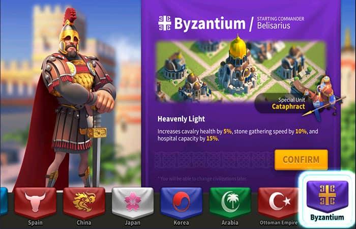 Civilización Bizancio En Rise Of Kingdoms