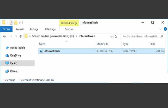 a \\ vmware-host \ Shared Folders
