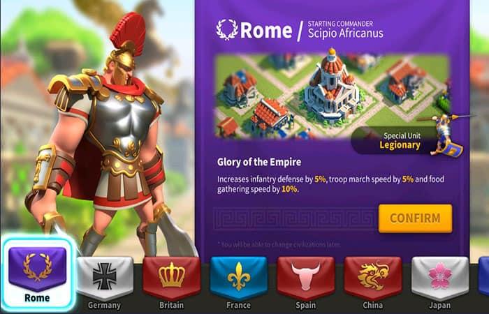 Civilización En Rise Of Kingdoms
