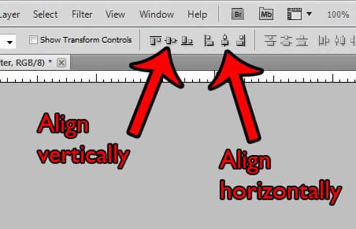 Alinear centros verticalmente