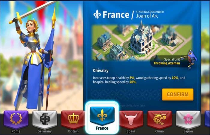 Civilización Francesa En Rise Of Kingdoms