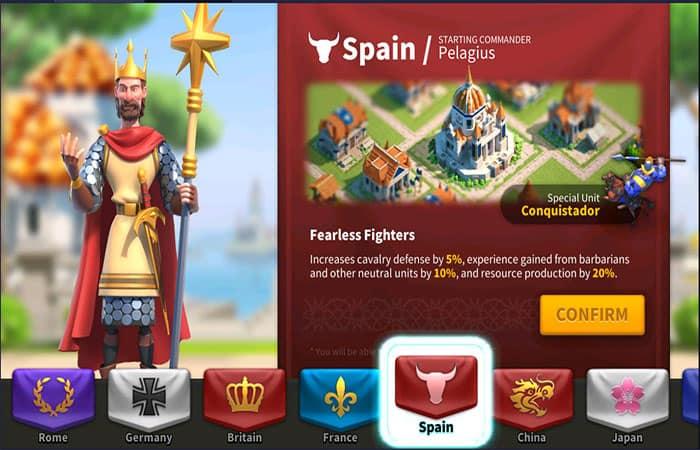Civilización Española En Rise Of Kingdoms
