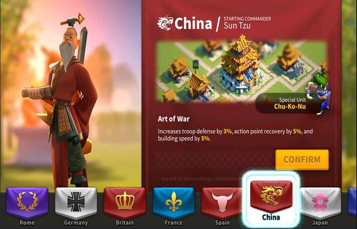 Civilización China En Rise Of Kingdoms