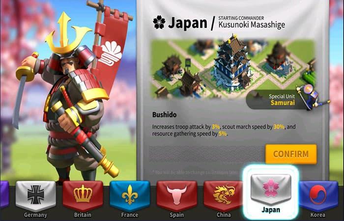 Civilización Japonesa En Rise Of Kingdoms
