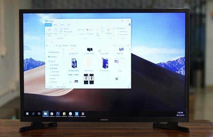 Expande o muestra la pantalla de tu computadora en tu televisor