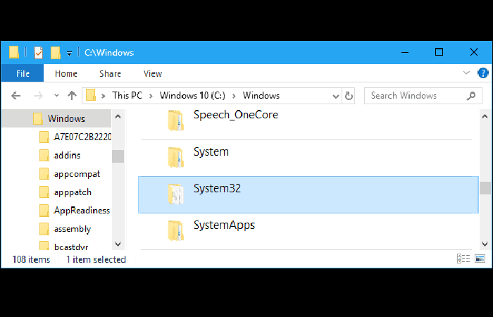 C: \ Windows \ System32