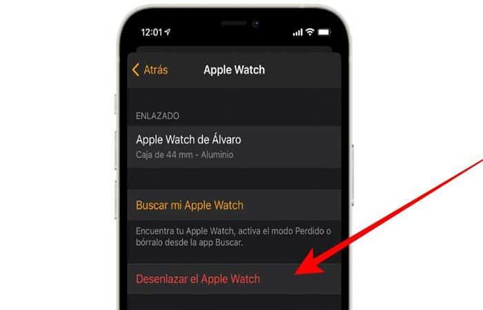 Desenlazar Apple Watch