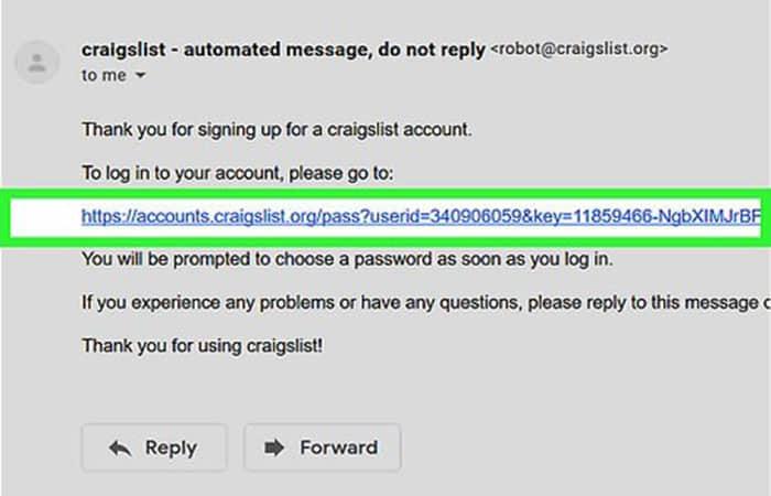 craigslist - mensaje automático