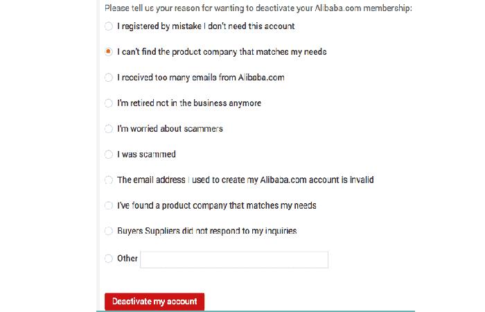 Desactivar cuenta AliExpress