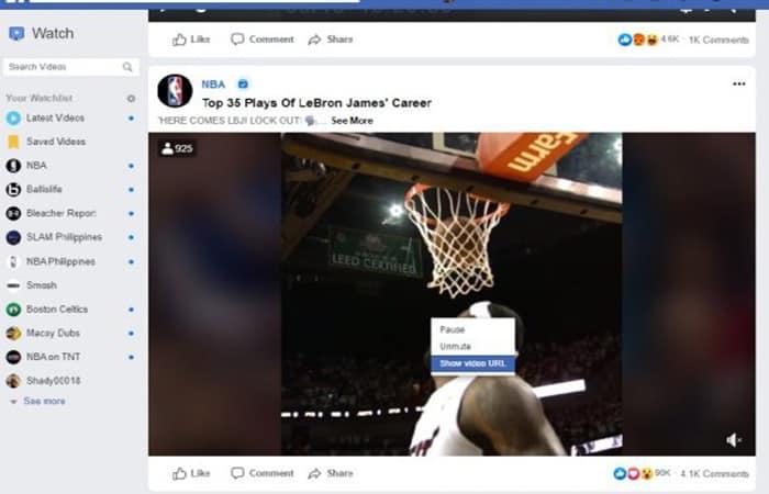 Descargar videos en Facebook