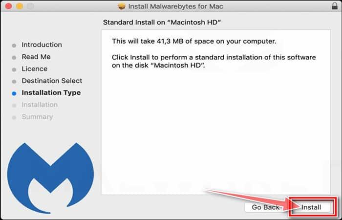 Instalador de Mac de Malwarebytes, paso 3