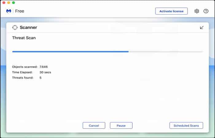 Escaneo en busca de malware
