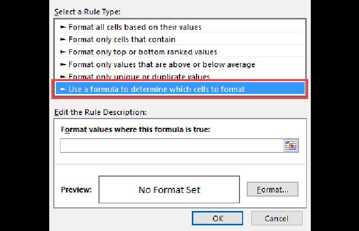 Inicio -> Formato condicional -> Nueva regla.