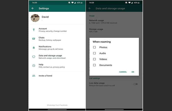 No puedes subir videos o fotos cuando WhatsApp no funciona