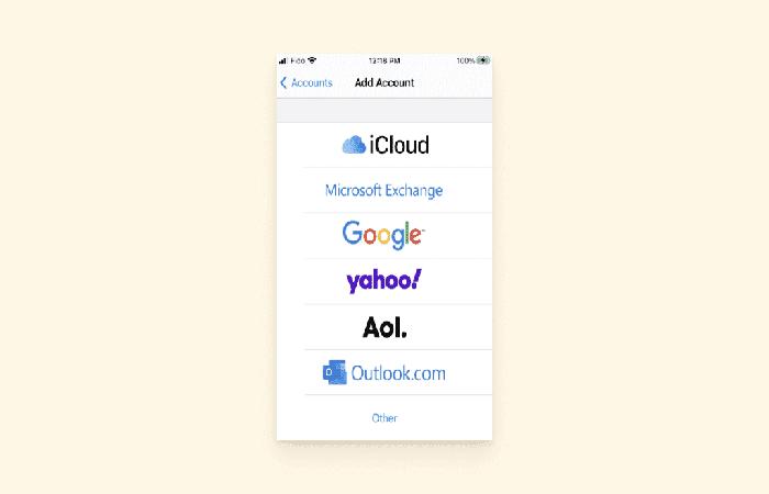 acceder a Hotmail en un iPhone