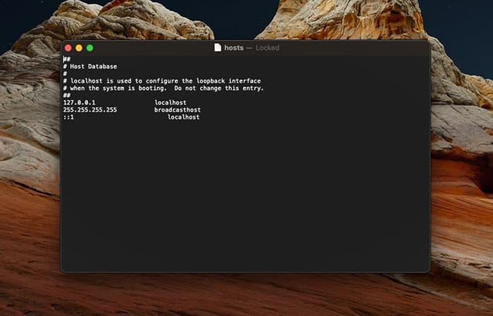 vpn, error en el archivo hosts…
