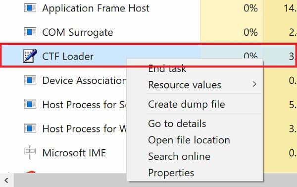 CTF Loader en Windows 10