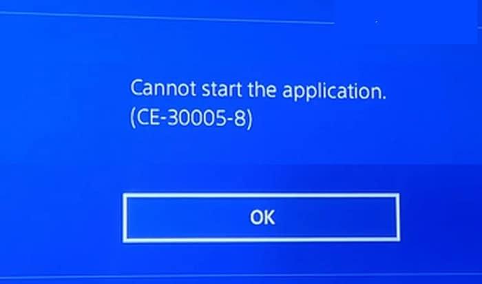 Error CE-30005-8