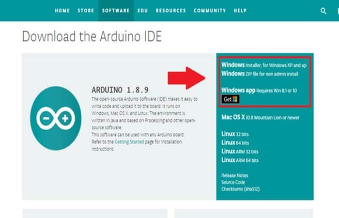 Programa para controlar Arduino