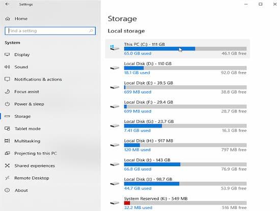 cómo saber qué ocupa espacio en tu disco duro