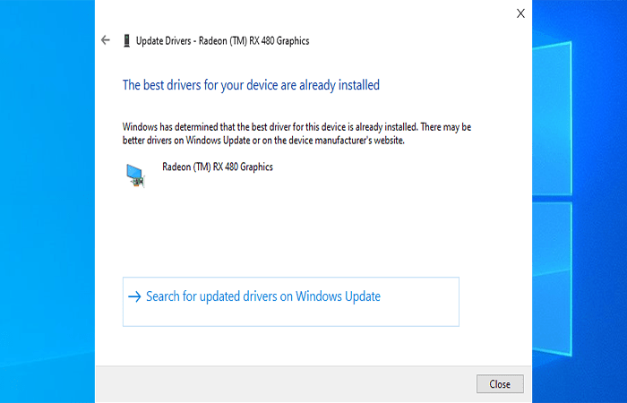Buscar automáticamente el software del controlador actualizado