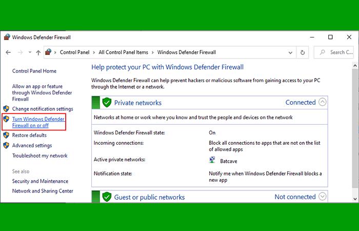 Verificar estado del firewall
