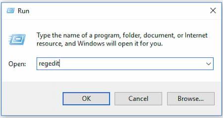 Abrir editor de registro en Windows