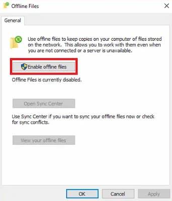Centro de sincronización de Windows 10