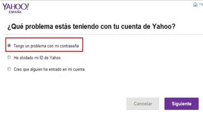 Olvidé mi contraseña Yahoo