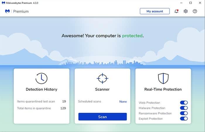Revisando la configuración del antivirus